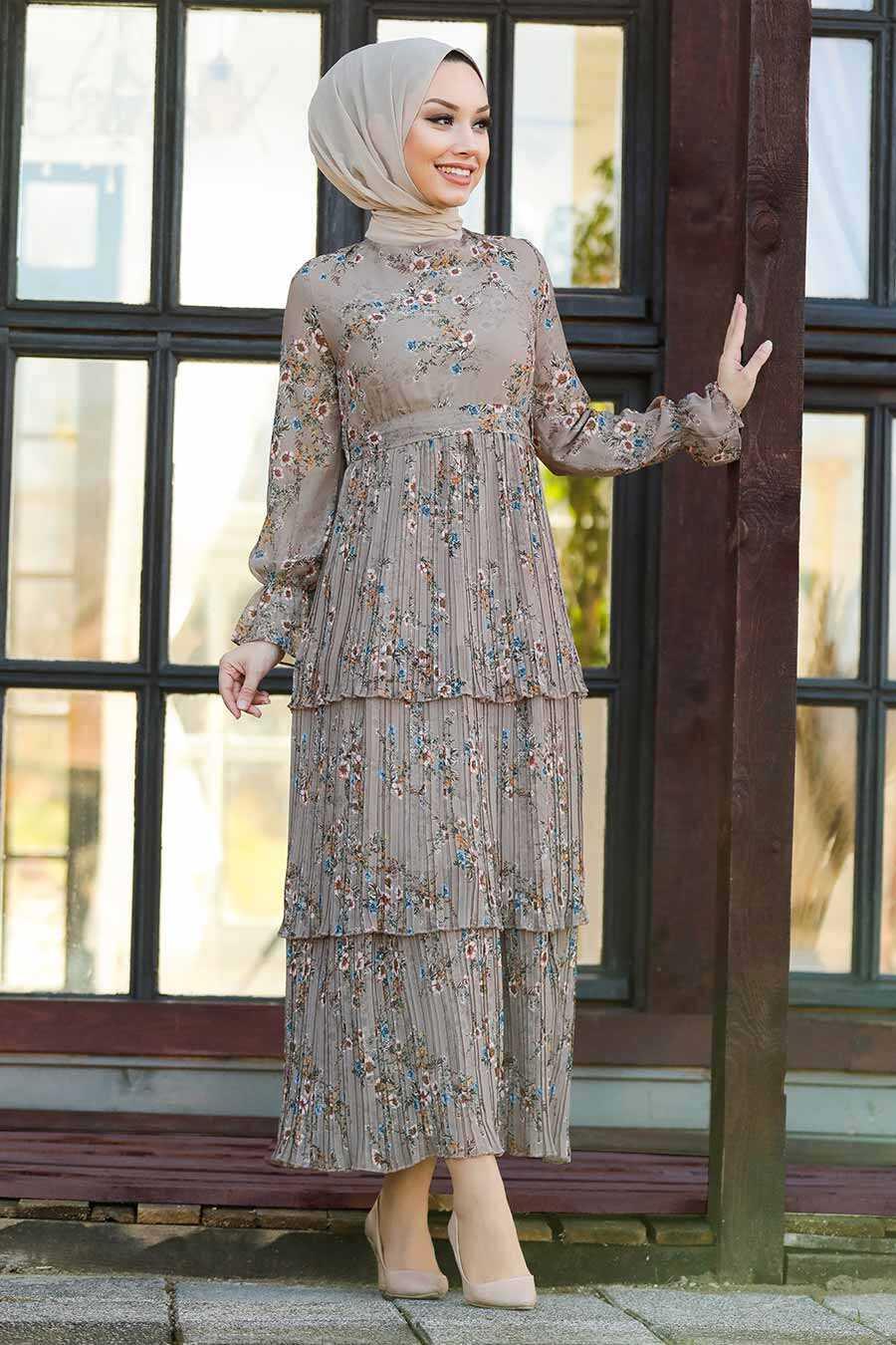 Mink Hijab Dress 8140V