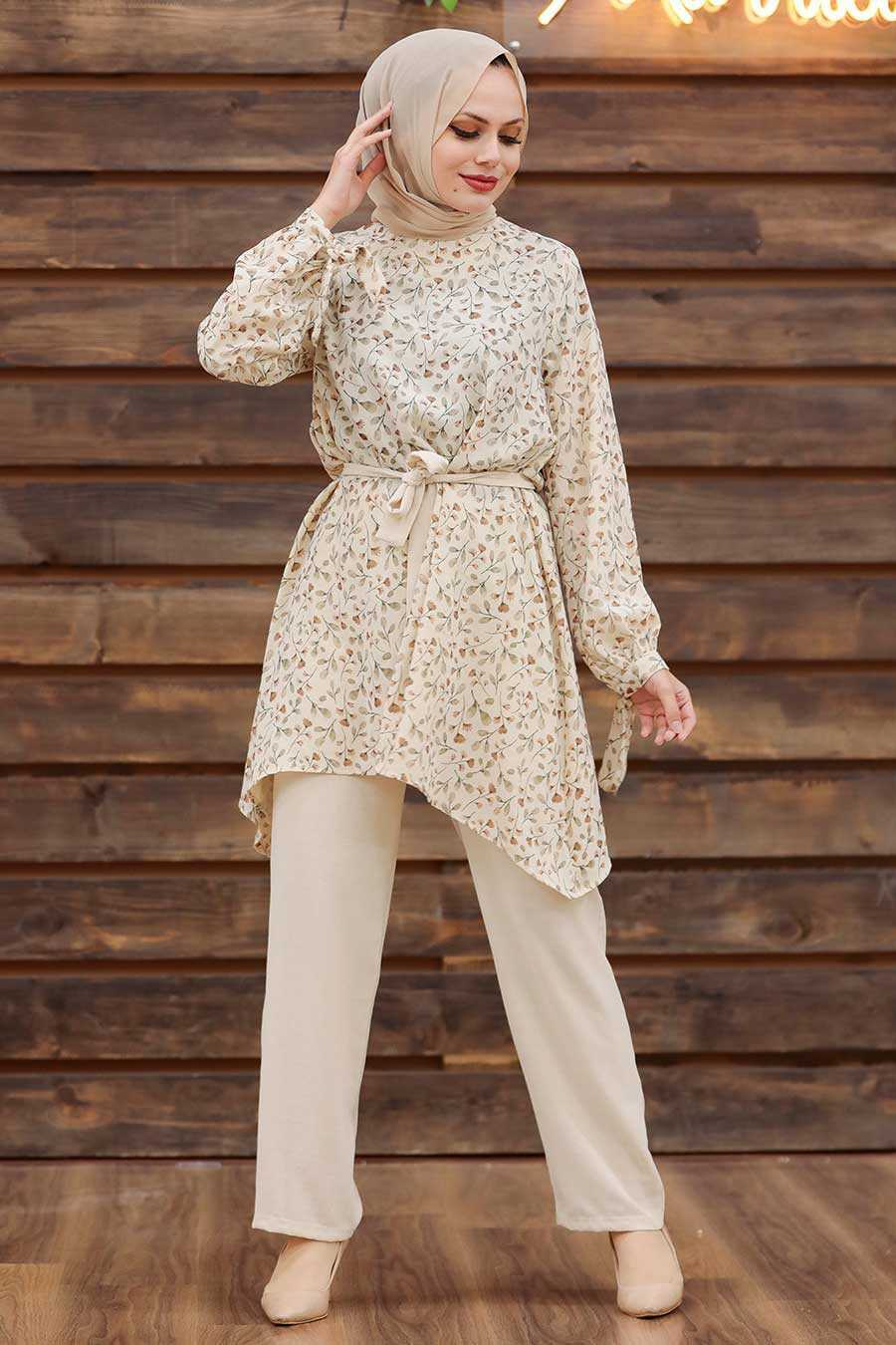 Mink Hijab Dual Suit Dress 30091V