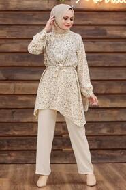Mink Hijab Dual Suit Dress 30091V - Thumbnail