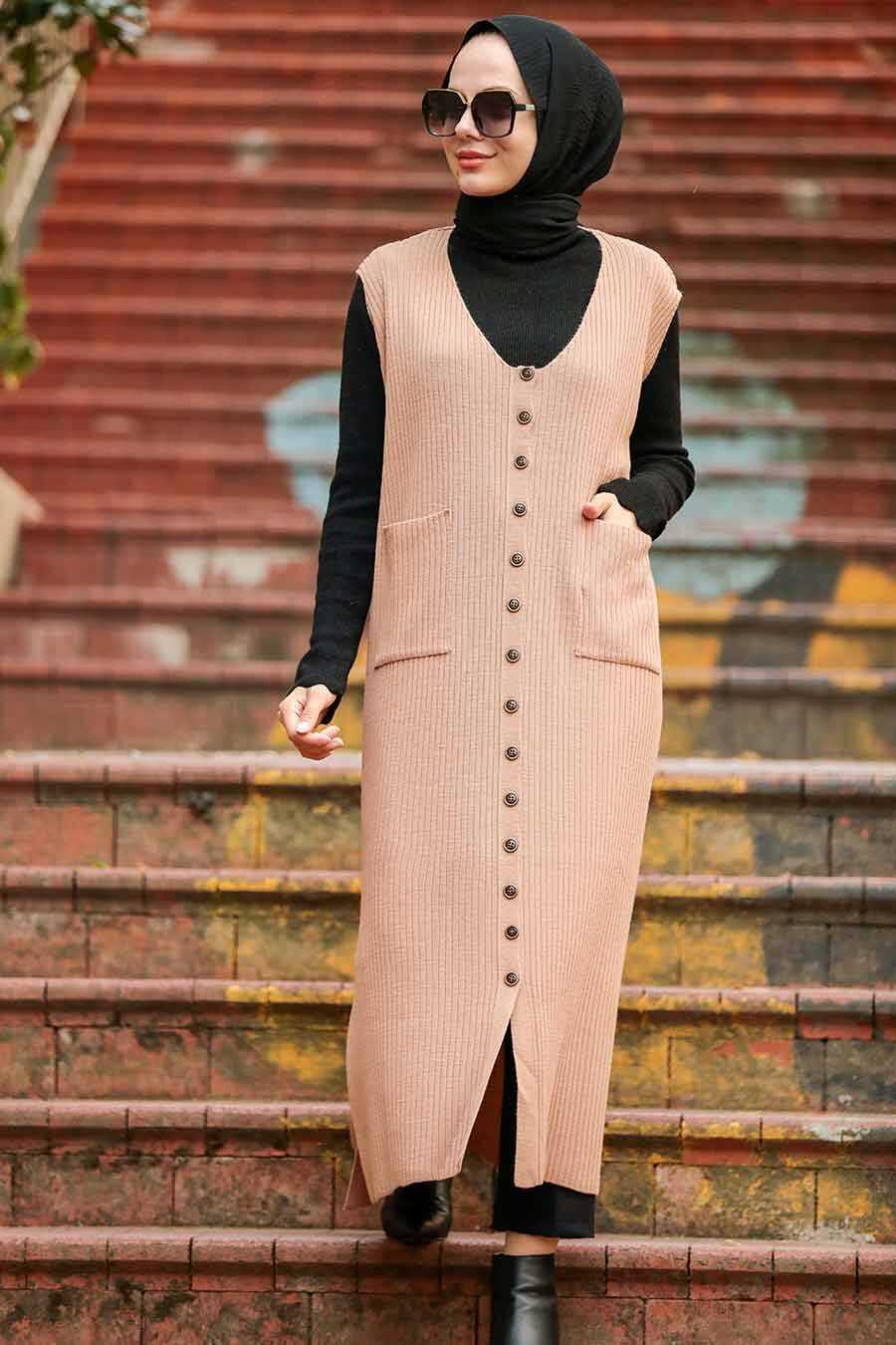 Mink Hijab Knitwear Vest 3324V