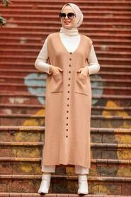 Mink Hijab Knitwear Vest 3324V - Thumbnail
