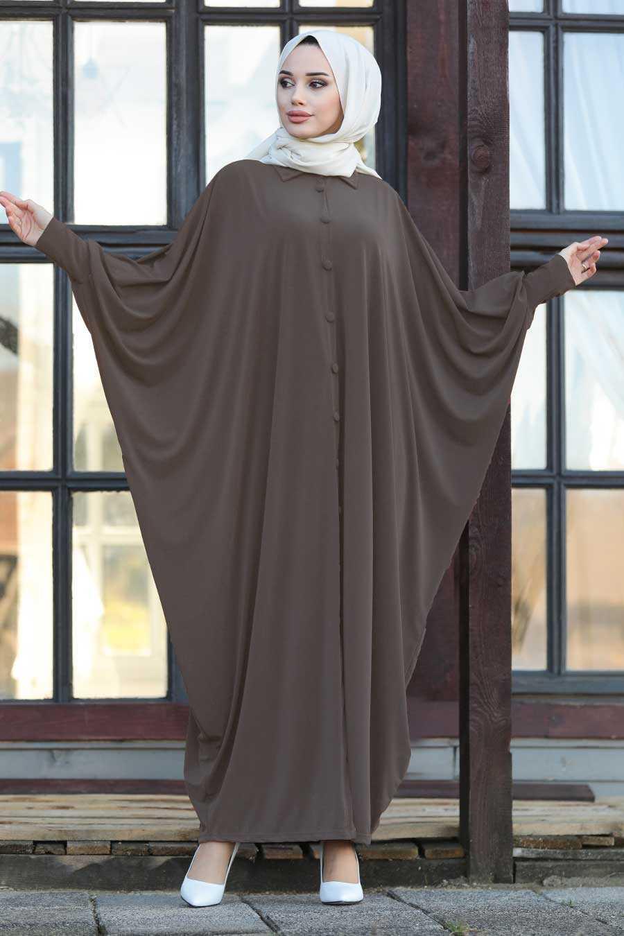 Mink Hijab Turkish Abaya 1723V