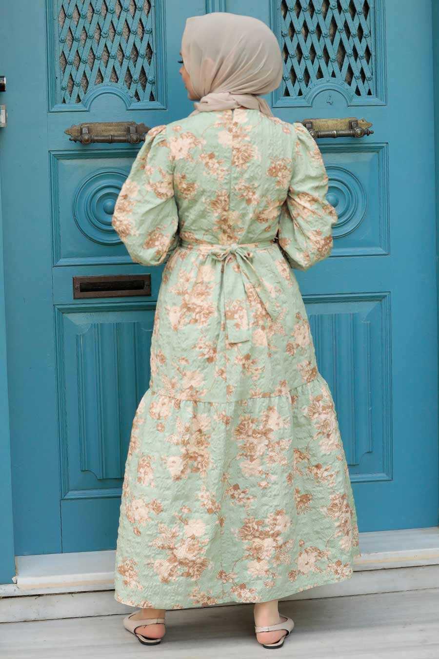 Mint Hijab Dress 7673MINT