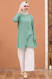 Mint Hijab Dual Suit 3039MINT - Thumbnail