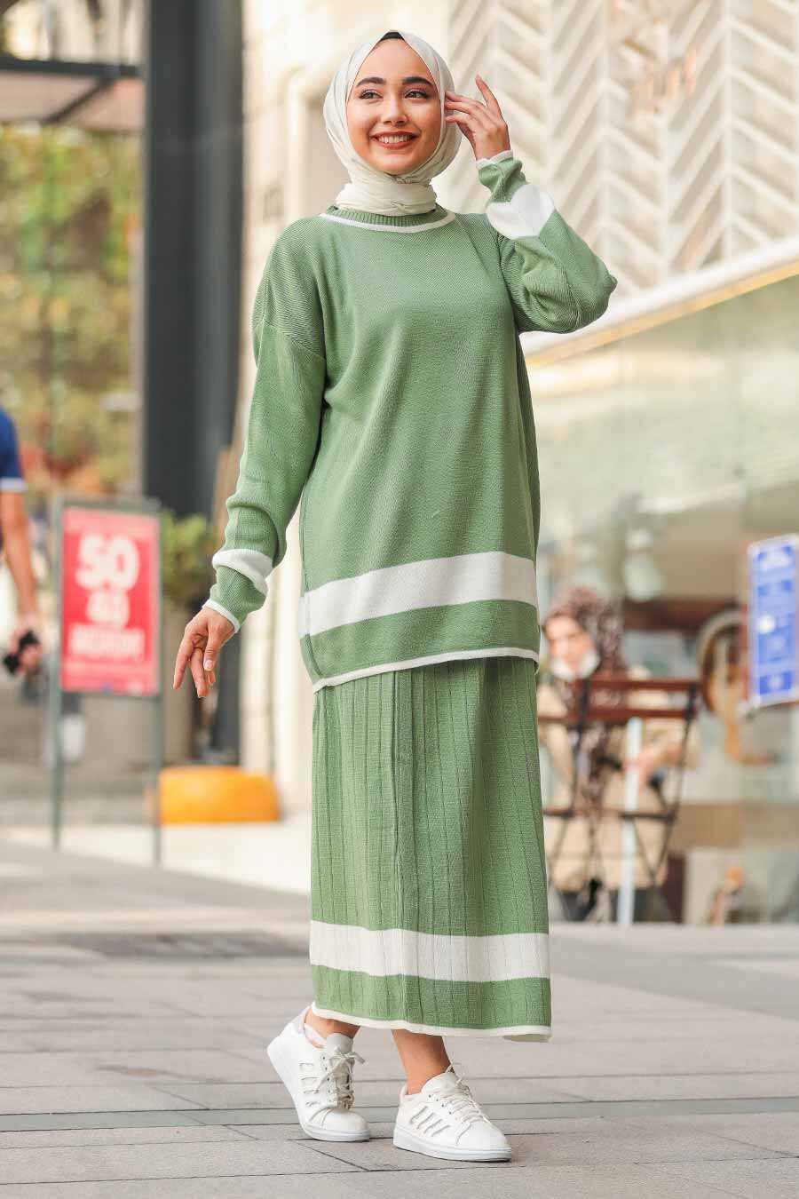 Mint Hijab Dual Suit Dress 9681MINT
