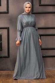 Mint Hijab Evening Dress 5367MINT - Thumbnail