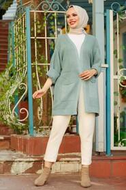 Mint Hijab Knitwear Cardigan 7904MINT - Thumbnail