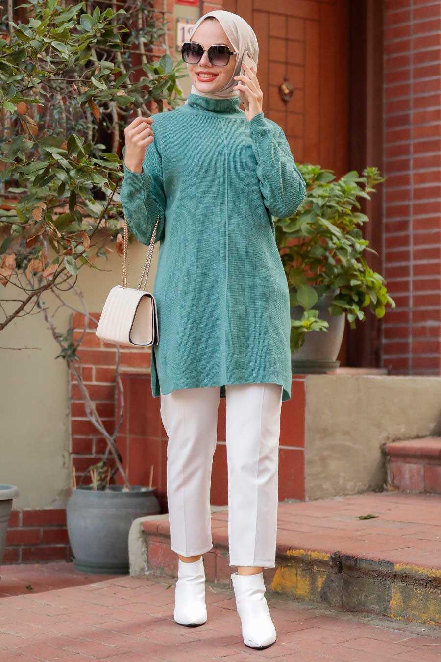Mint Hijab Knitwear Tunic 18441MINT