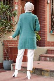 Mint Hijab Knitwear Tunic 18441MINT - Thumbnail
