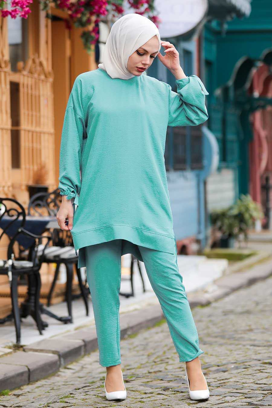 Mint Hijab Suit Dress 5617MINT