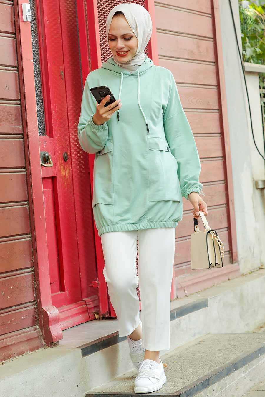 Mint Hijab Sweatshirt & Tunic 4135MINT