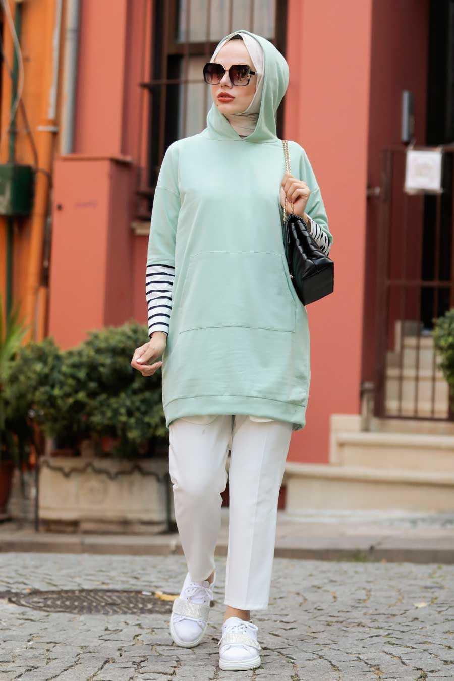 Mint Hijab Sweatshirt & Tunic 4212MINT