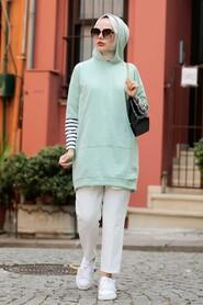 Mint Hijab Sweatshirt & Tunic 4212MINT - Thumbnail