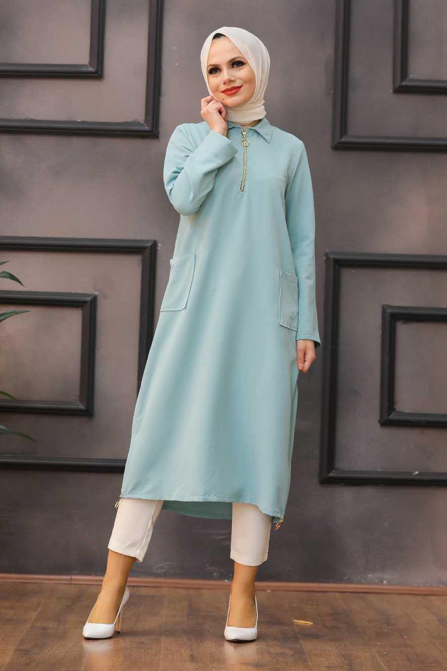 Mint Hijab Tunic 477MINT