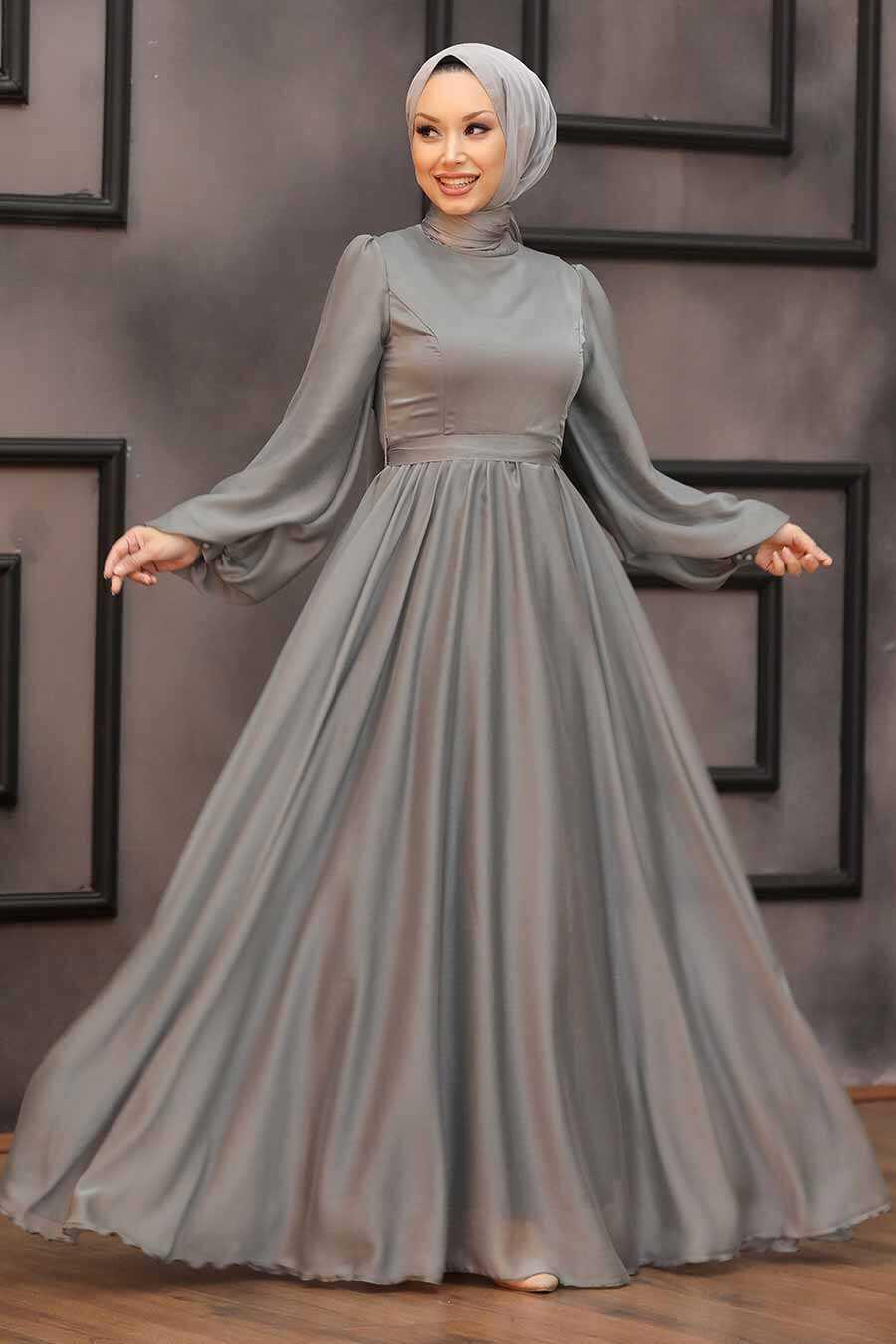 Mint Lila Hijab Evening Dress 5215MINT