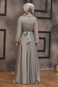 Mint Lila Hijab Evening Dress 5215MINT - Thumbnail
