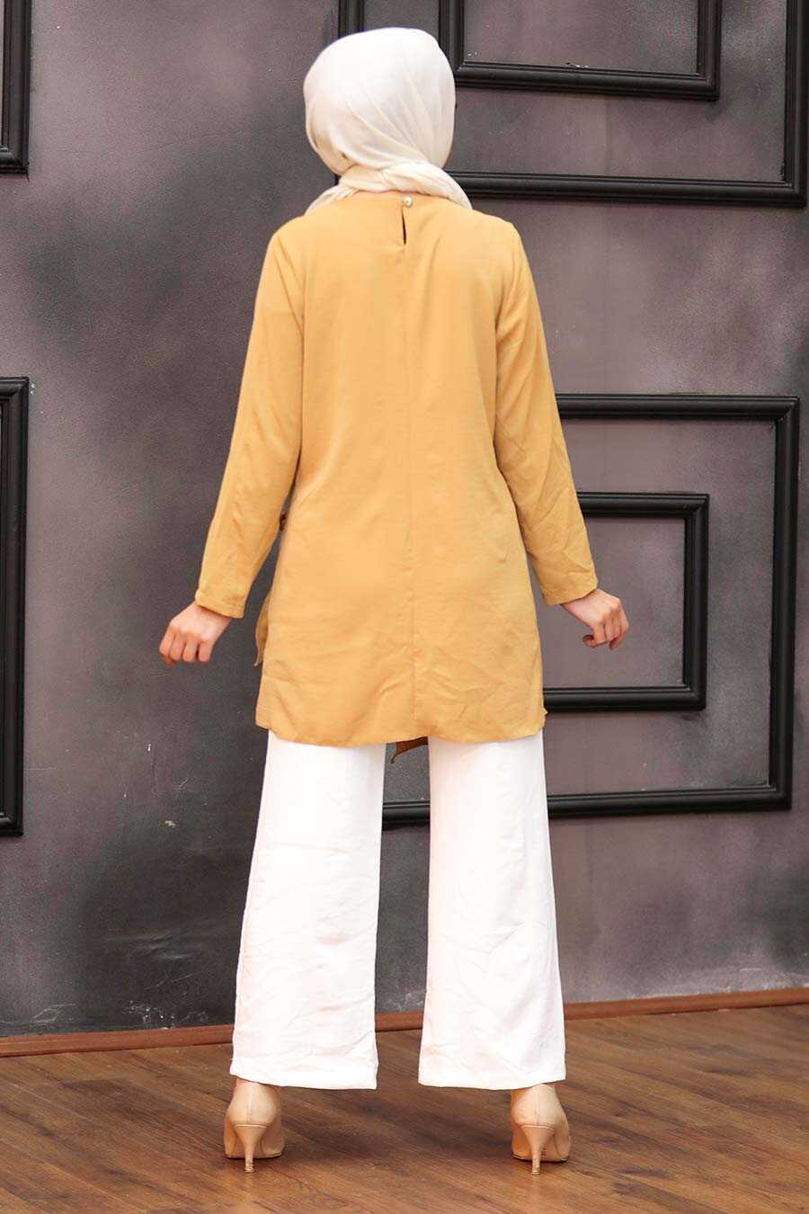 Mustard Hijab Dual Suit 3039HR