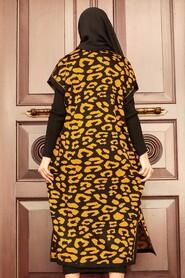 Mustard Hijab Knitwear Suit Dress 3192HR - Thumbnail