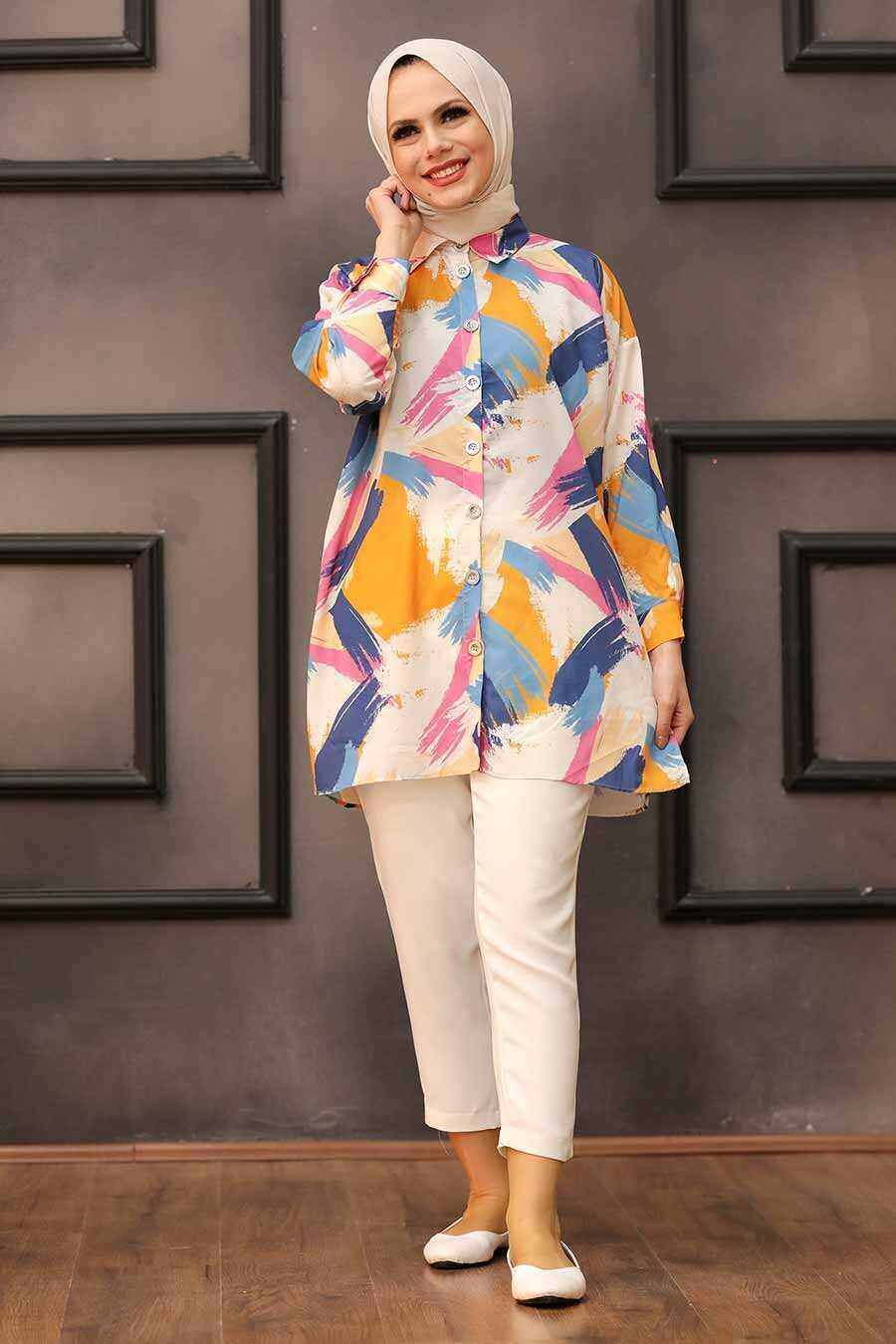 Mustard Hijab Tunic 273204HR