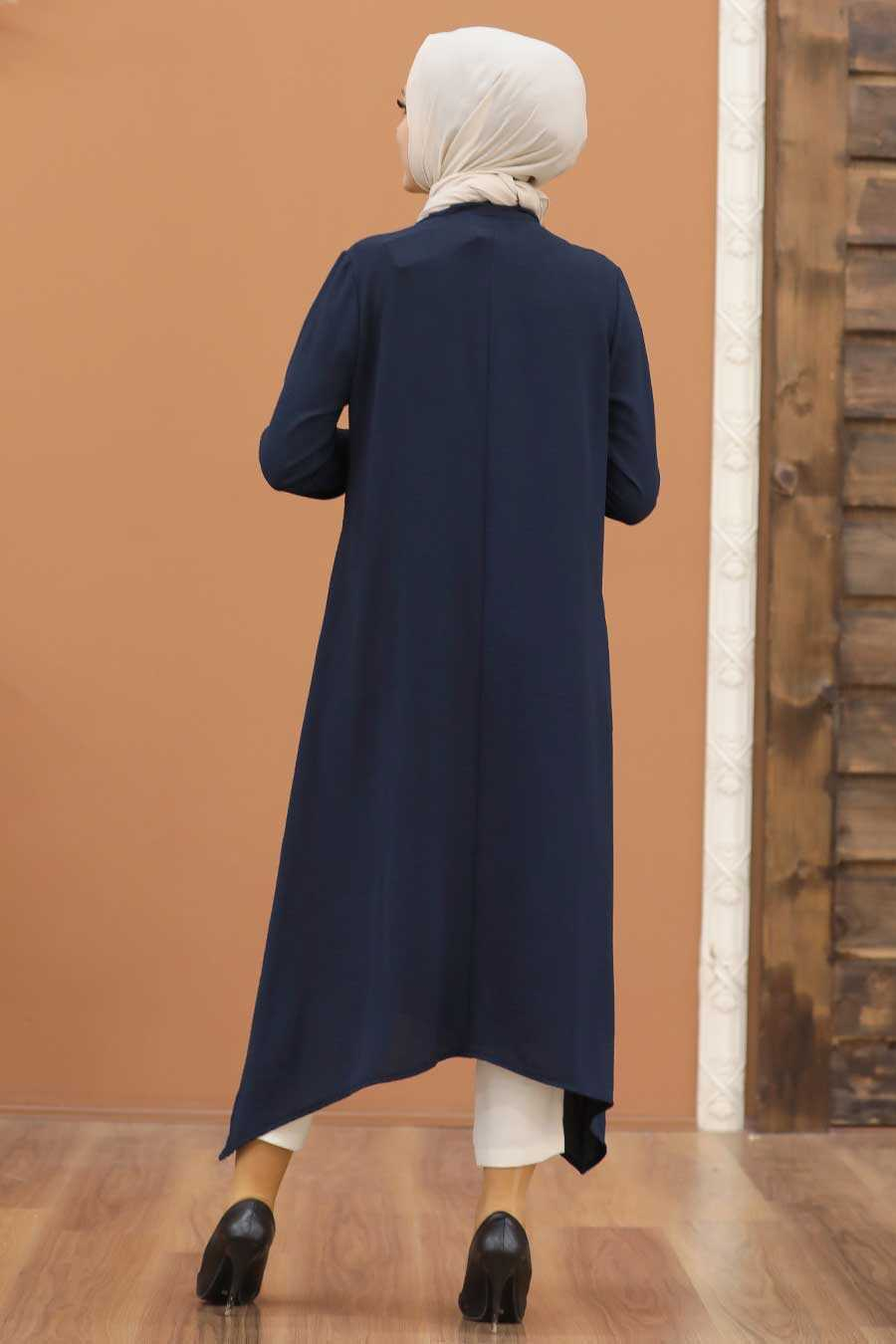 Navy Blue Hijab Tunic 540L