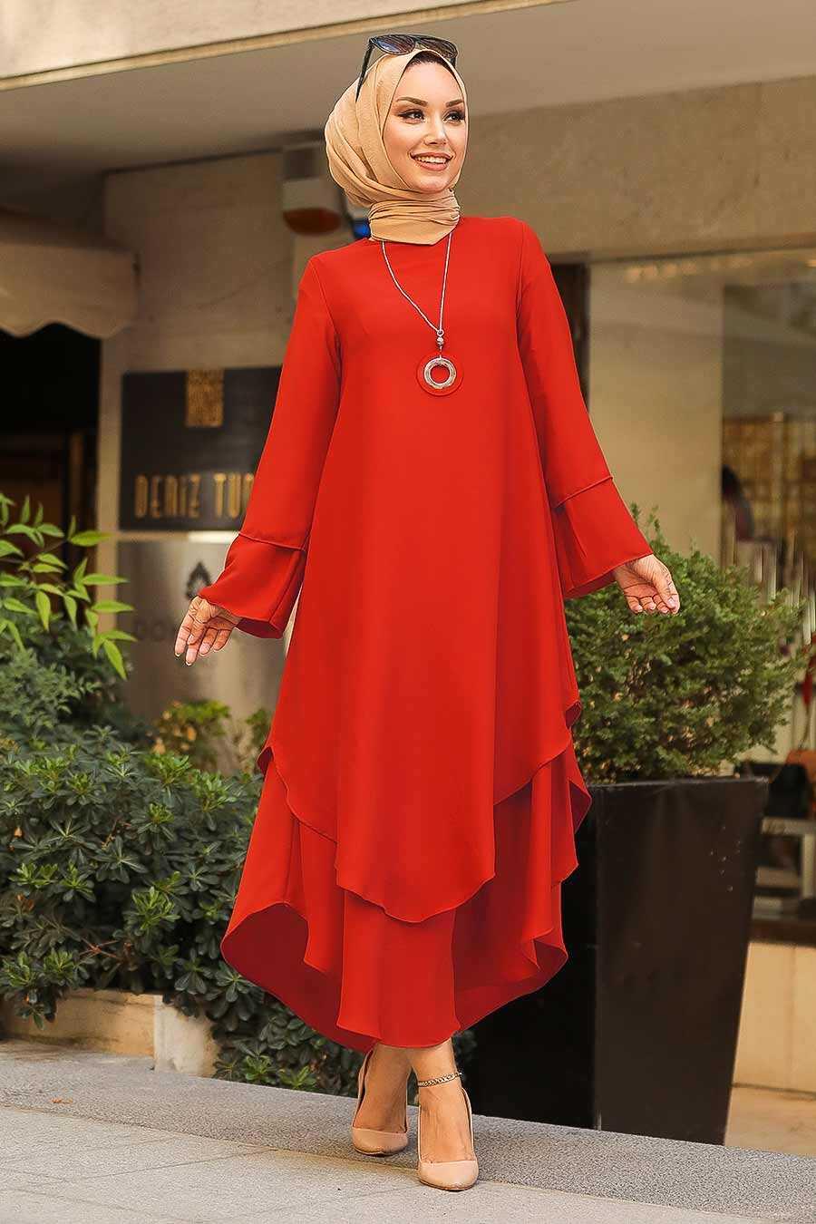 Orange Hijab Tunic 33170T