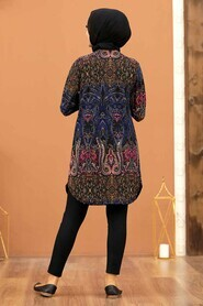 Patterned Hijab Tunic 35818DSN - Thumbnail