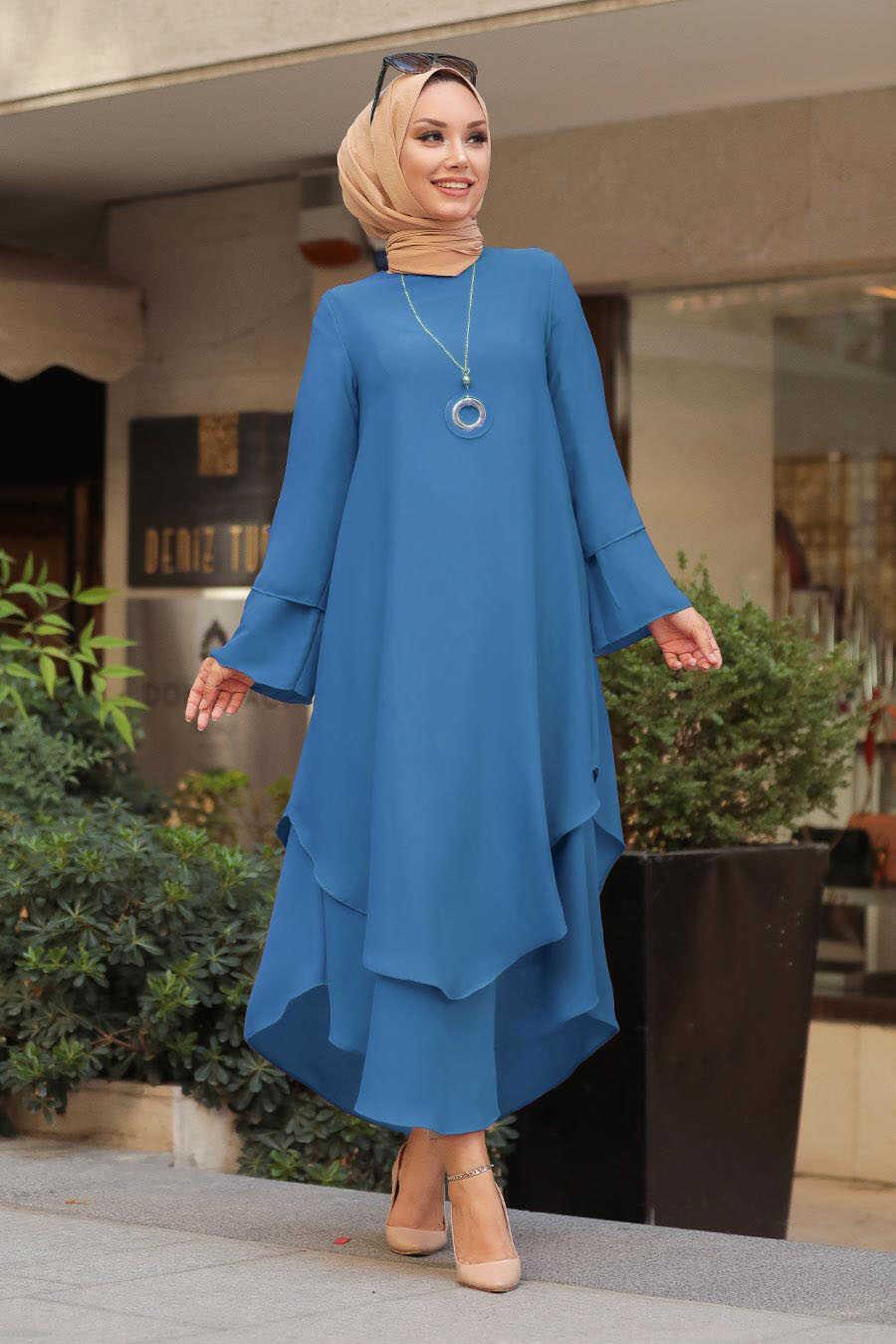 Petrol Blue Hijab Tunic 33170PM
