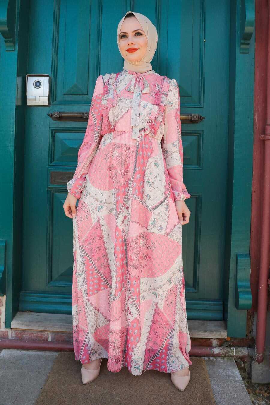 Pink Hijab Dress 2957P