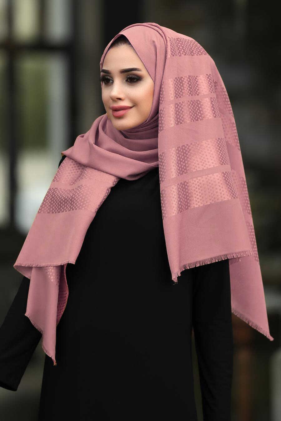 Pink Hijab Shawl 7505P