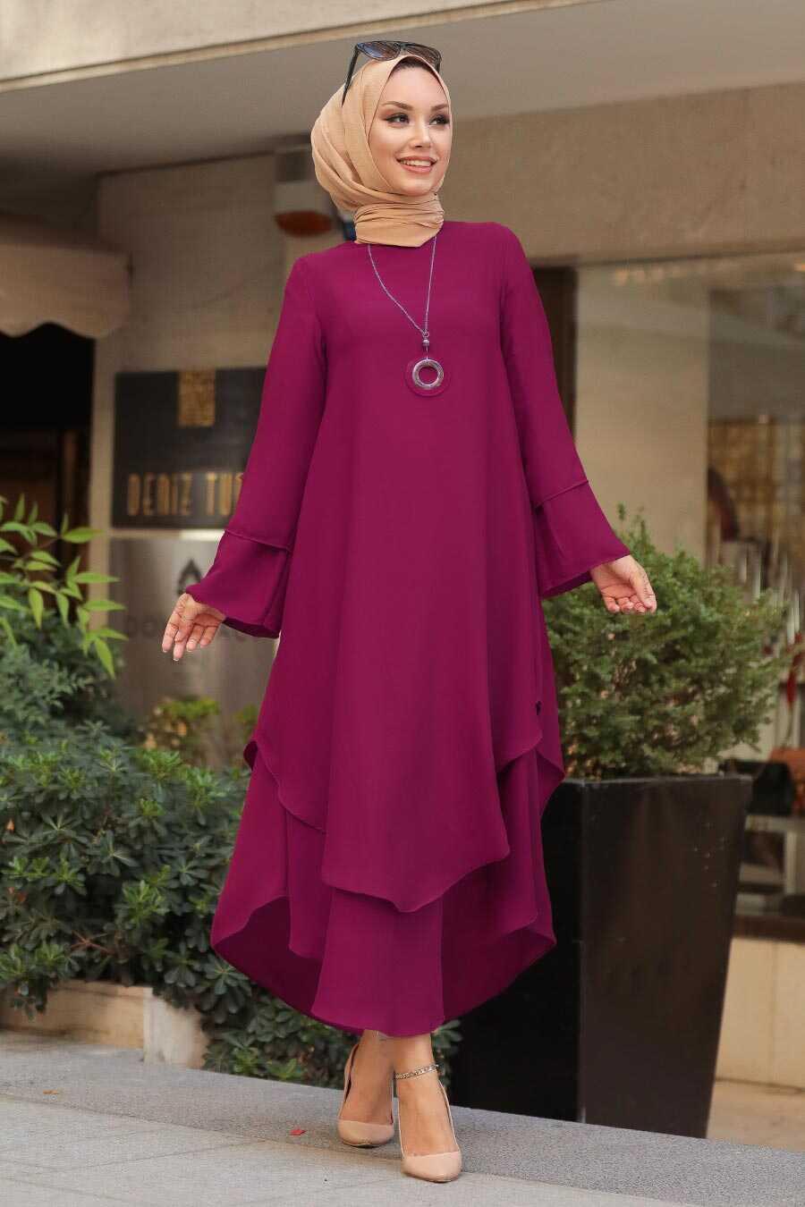 Plum Color Hijab Tunic 33170MU