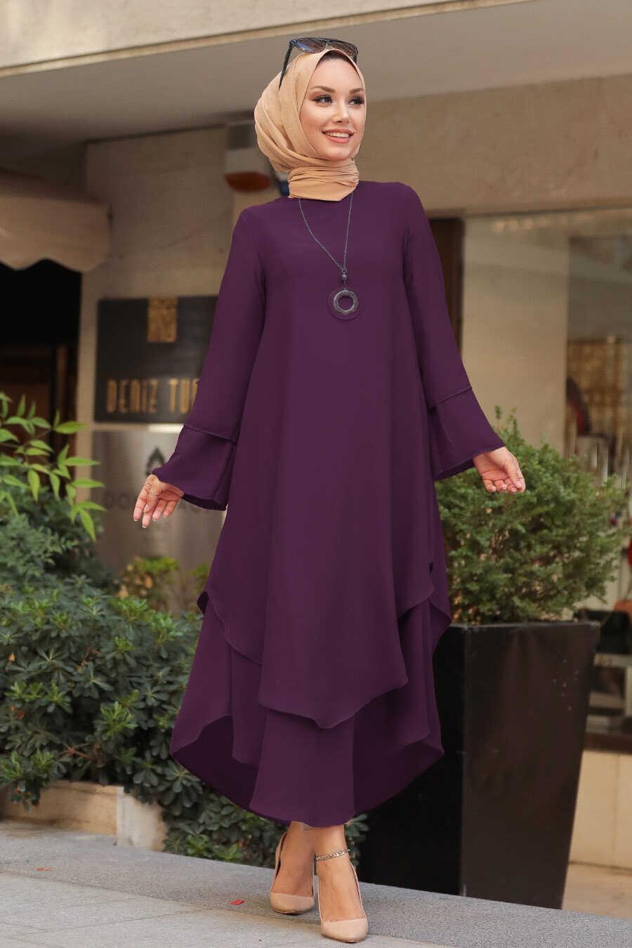 Purple Hijab Tunic 33170MOR