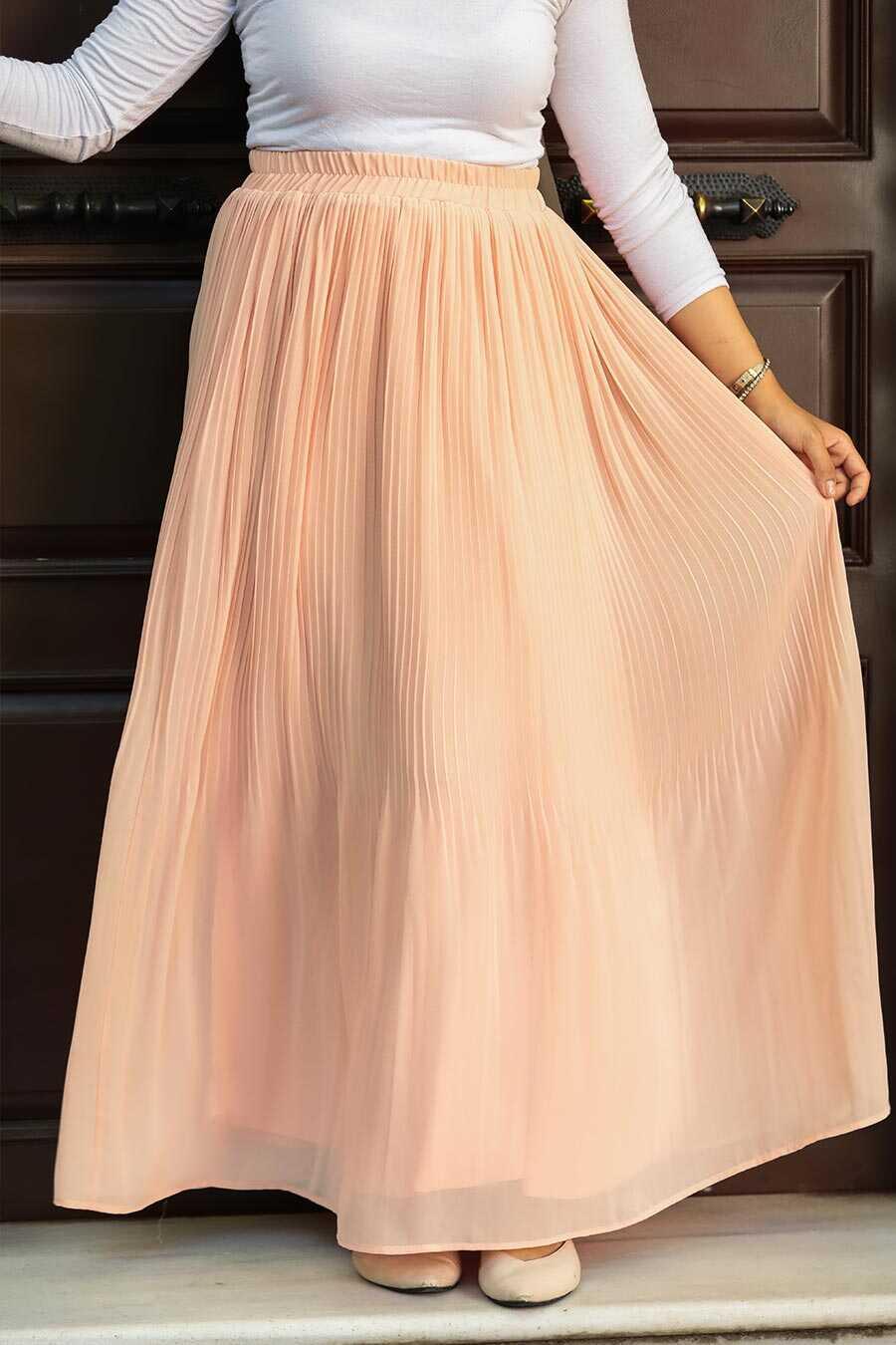 Salmon Pink Hijab Skirt 32140SMN