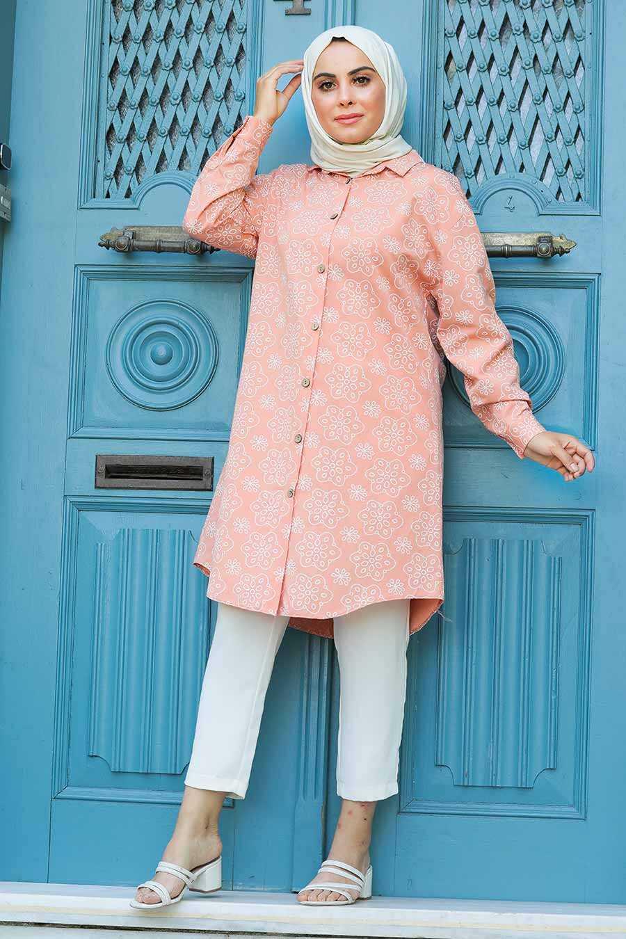 Salmon Pink Hijab Tunic 20350SMN