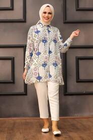 Sax Blue Hijab Tunic 273208SX - Thumbnail
