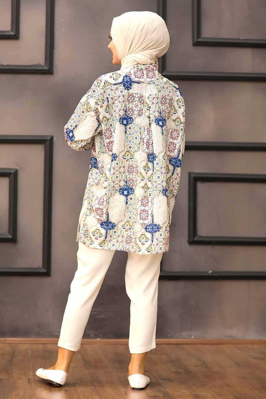 Sax Blue Hijab Tunic 273208SX