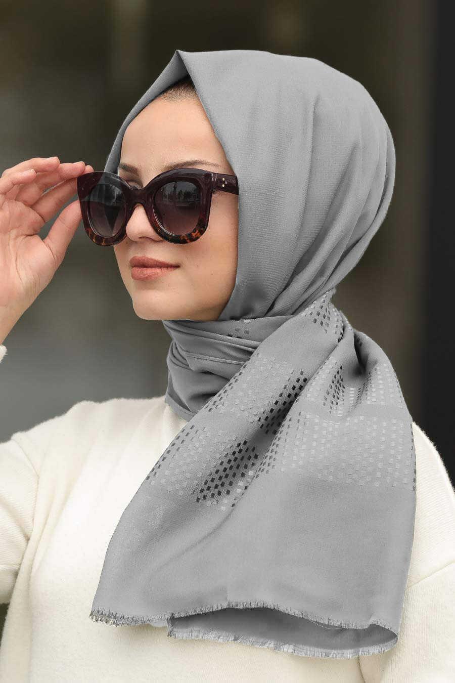 Smoke Color Hijab Shawl 7505FU