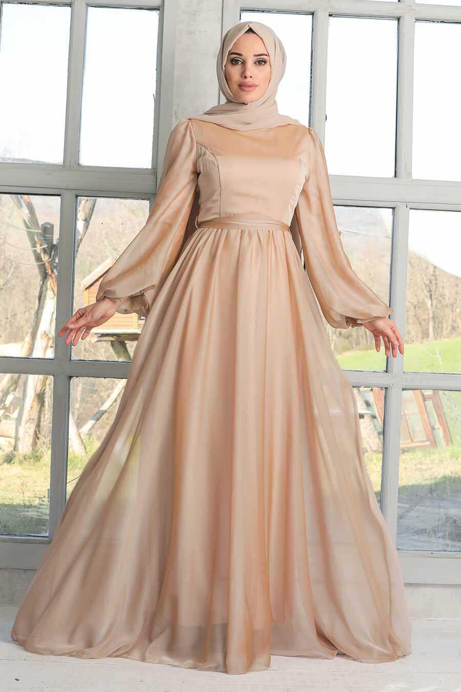 Stone Hijab Evening Dress 5215TAS