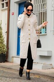 Stone Hijab Knitwear Cardigan 4011TAS - Thumbnail
