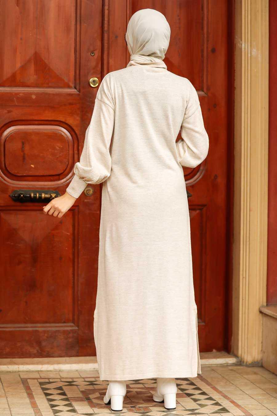 Stone Hijab Knitwear Dress 3135TAS