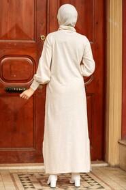 Stone Hijab Knitwear Dress 3135TAS - Thumbnail