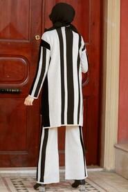 Stone Hijab Knitwear Suit Dress 3153TAS - Thumbnail