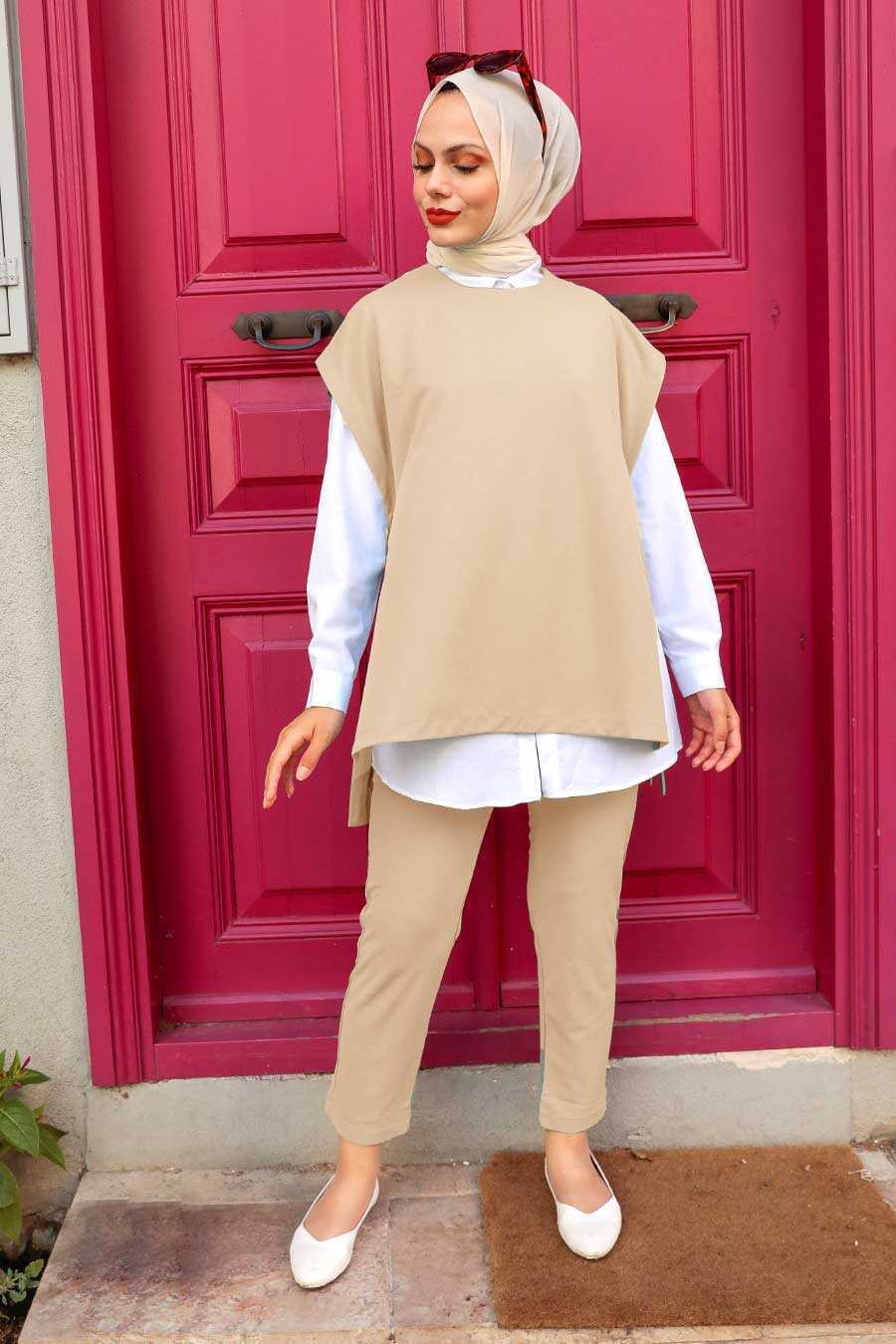 Stone Hijab Suit Dress 253TAS