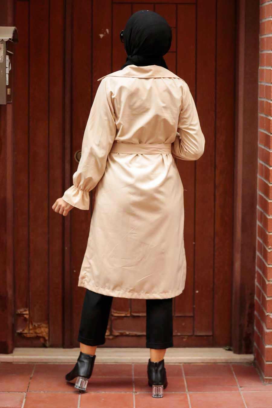 Stone Hijab Trenchcoat 5836TAS