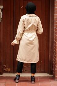 Stone Hijab Trenchcoat 5836TAS - Thumbnail