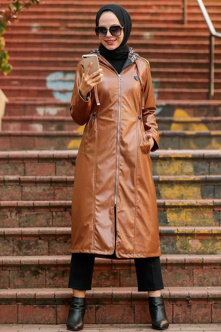 Sunuff Colored Hijab Coat 12050TB