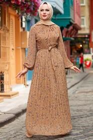 Sunuff Colored Hijab Dress 27890TB - Thumbnail
