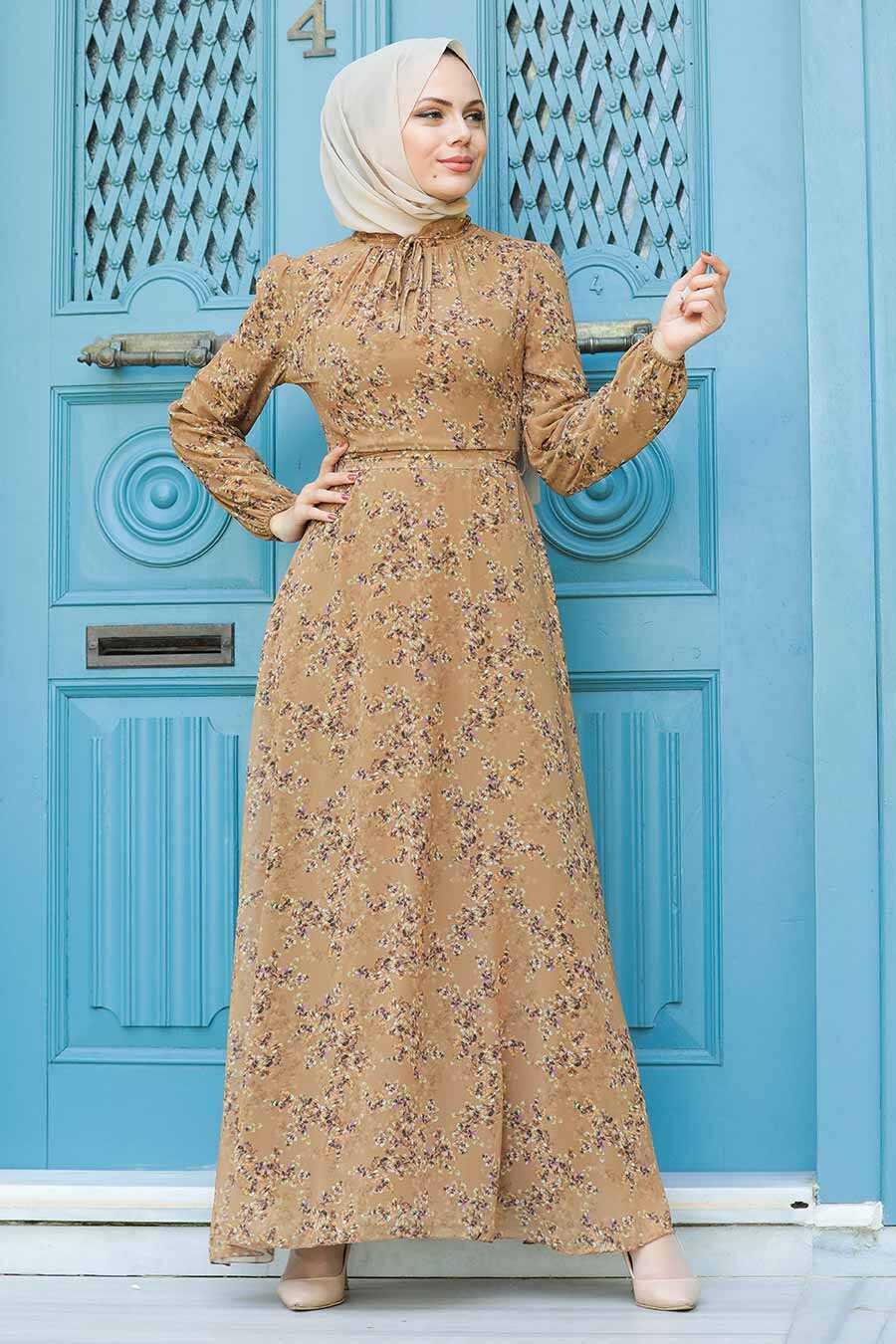 Sunuff Colored Hijab Dress 279011TB