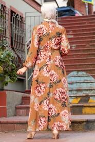 Sunuff Colored Hijab Dress 71020TB - Thumbnail