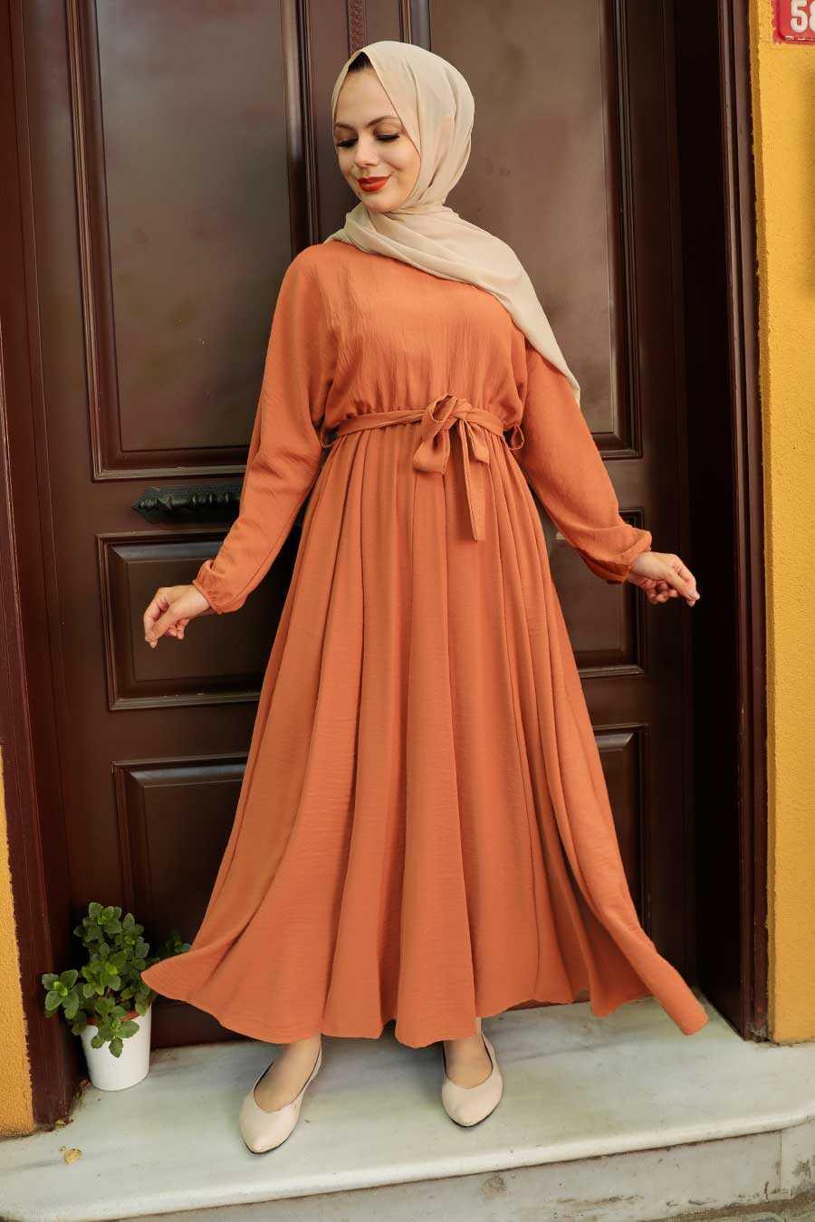 Sunuff Colored Hijab Dress 76150TB