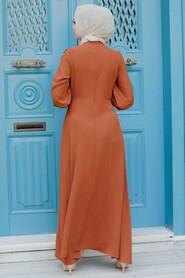 Sunuff Colored Hijab Dress 76480TB - Thumbnail